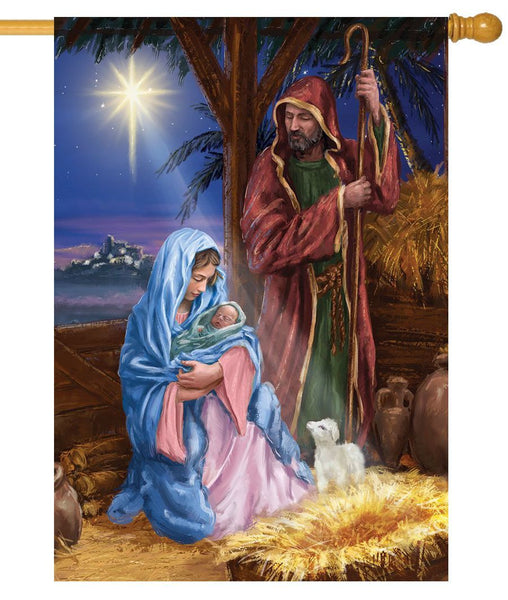 Jesus Mary and Joseph House Flag - All Decorative Flags/Holidays/Christmas Flags - I AmEricas Flags