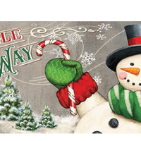 Jingle All the Way Snowman Mailbox Cover
