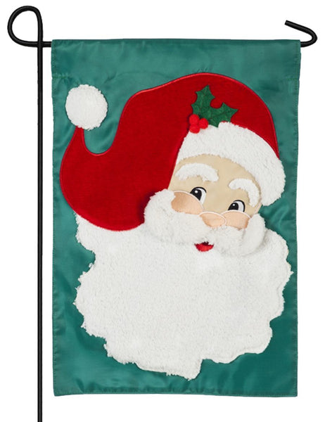 Jolly Old Saint Nick Applique Garden Flag - All Decorative Flags/Holidays/Christmas Flags - I AmEricas Flags