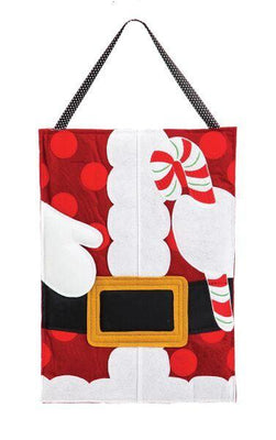 Jolly Santa Belt Decorative Felt Door Hanger