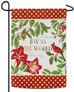 Joy to the World Cardinal Embellished Suede Garden Flag