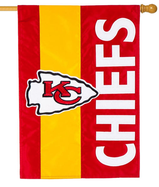 Kansas City Chiefs Embellished Applique House Flag