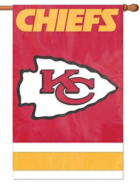 Kansas City Chiefs Applique House Flag