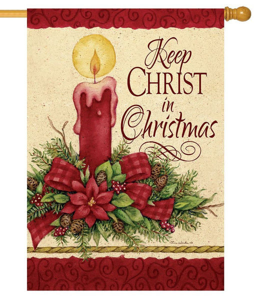 Keep Christ in Christmas House Flag - All Decorative Flags/Holidays/Christmas Flags - I AmEricas Flags