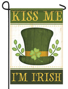 Kiss Me I'm Irish Garden Flag