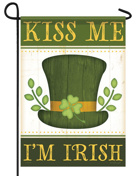 Kiss Me I'm Irish Garden Flag - All Decorative Flags/Holidays/St. Patrick's Day Flags - I AmEricas Flags