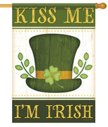 Kiss Me I'm Irish House Flag