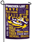 LSU 2 Sided Suede Reflections Garden Flag