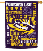 LSU 2 Sided Suede Reflections House Flag