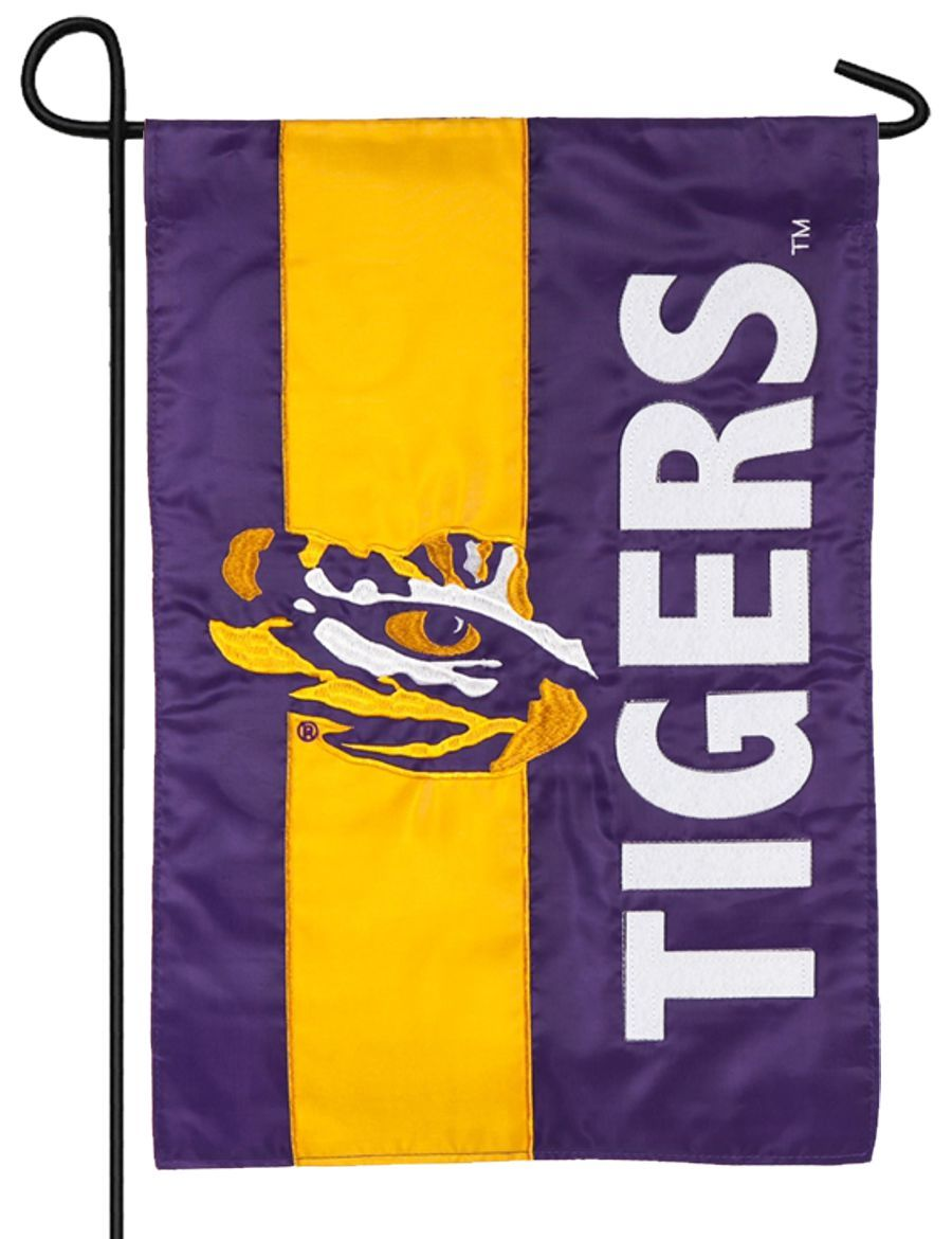 LSU Tiger Eye Embellished Applique Garden Flag