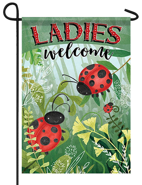 Ladies Welcome Garden Flag