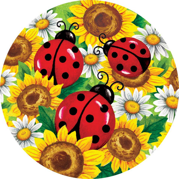 Ladybugs and Sunflowers Accent Magnet - I AmEricas Flags