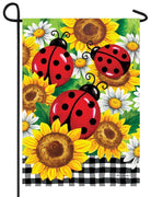 Ladybugs and Sunflowers Garden Flag