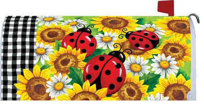 Ladybugs and Sunflowers Mailbox Cover