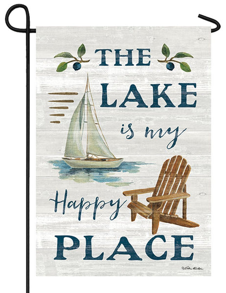 Lake Happy Place Garden Flag