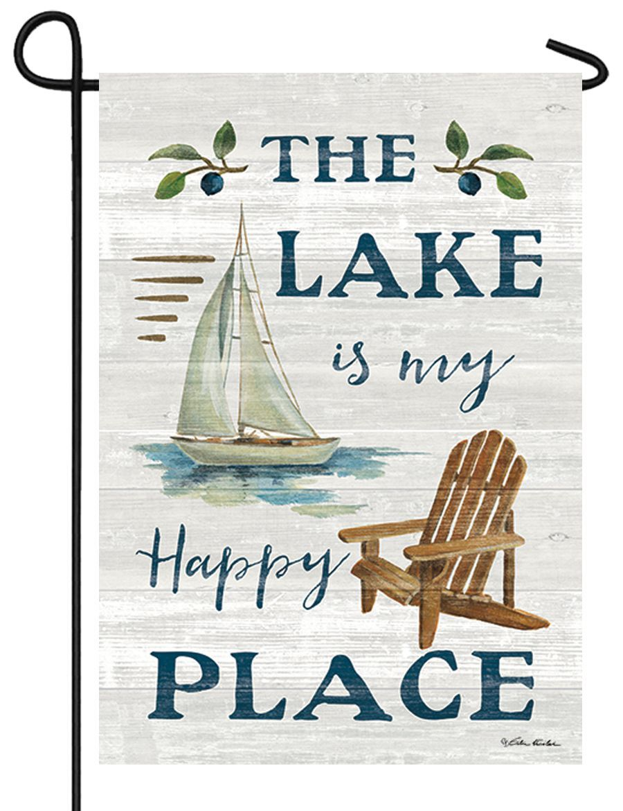 Lake Happy Place Garden Flag - I AmEricas Flags