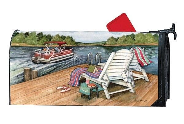 Lake Weekend Mailbox Cover - I AmEricas Flags