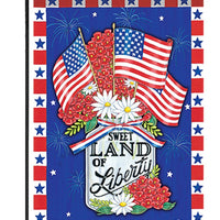 Land of Liberty Mason Jar Garden Flag