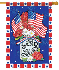Land of Liberty Mason Jar House Flag