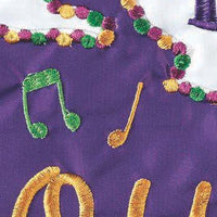 Let the Good Times Roll Double Applique House Flag Detail 2