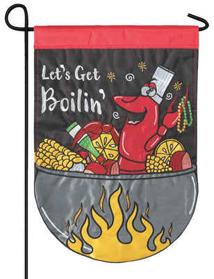 Let's Get Boilin' Double Applique Garden Flag