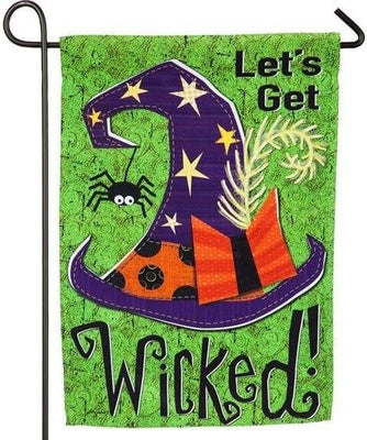 Let's Get Wicked Suede Reflections Garden Flag