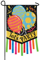 Let's Party Double Applique Garden Flag
