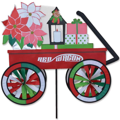 Lil Red Christmas Wagon Wind Spinner
