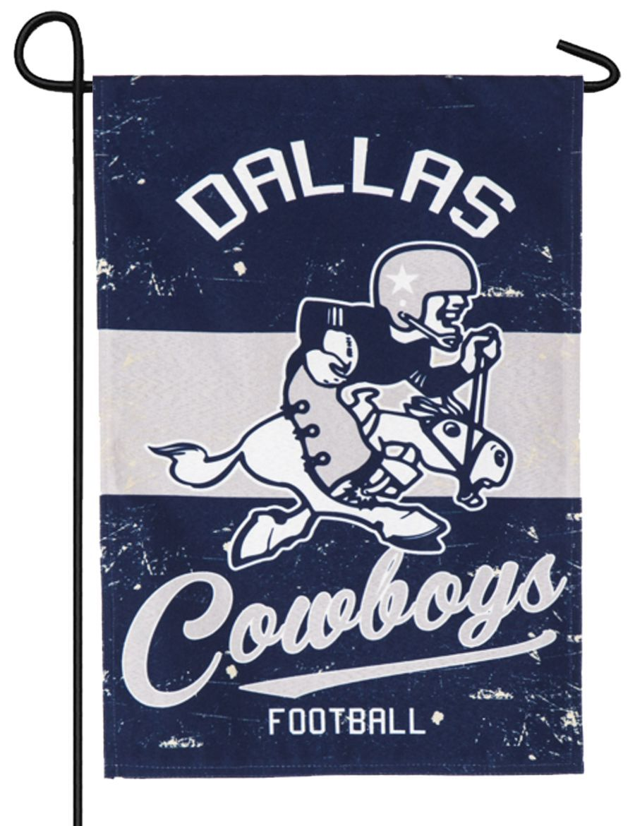 Linen Dallas Cowboys Vintage Decorative Garden Flag