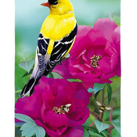 Linen Finch Floral Decorative House Flag