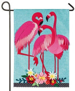 Linen Flamingo Trio Decorative Garden Flag