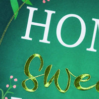 Linen Home Sweet Home Applique Garden Banner Detail 1