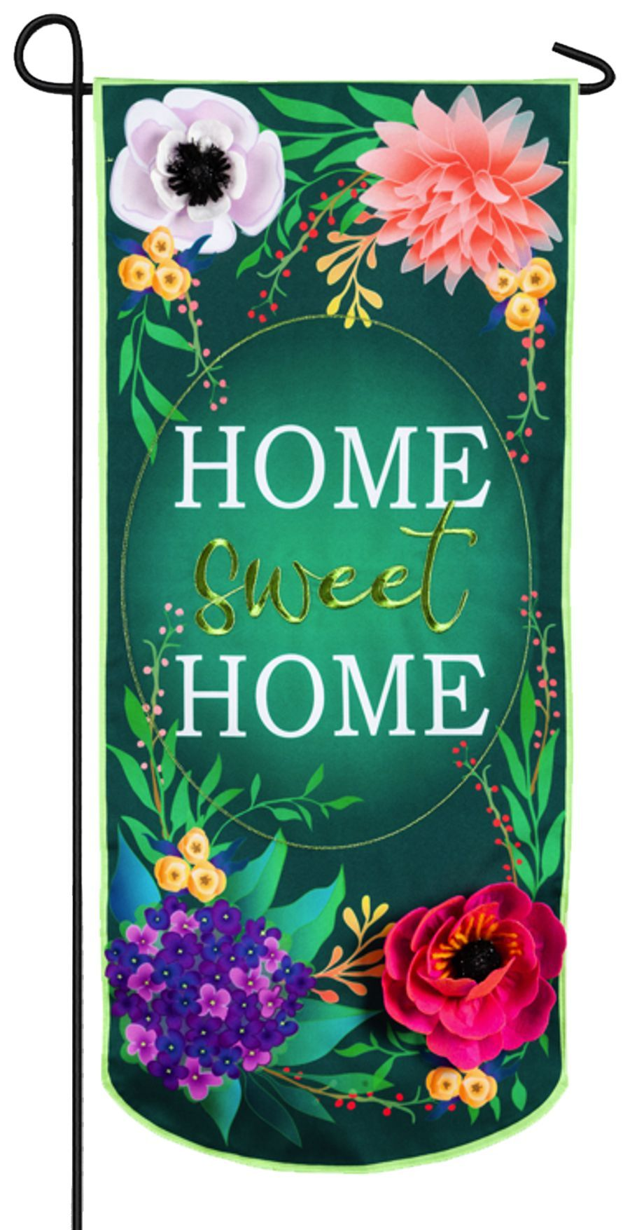 Linen Home Sweet Home Applique Garden Banner