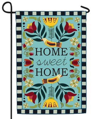 Linen Homespun Home Sweet Home Decorative Garden Flag