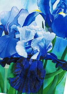 Linen Irises Decorative Garden Flag Detail