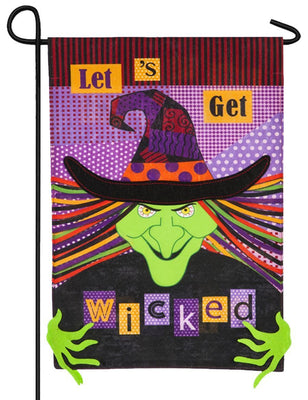 Linen Let's Get Wicked Decorative Garden Flag
