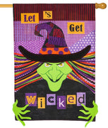 Linen Let's Get Wicked Decorative House Flag