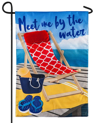 Linen Meet Me by the Water Decorative Garden FlagLinen Meet Me by the Water Decorative Garden Flag