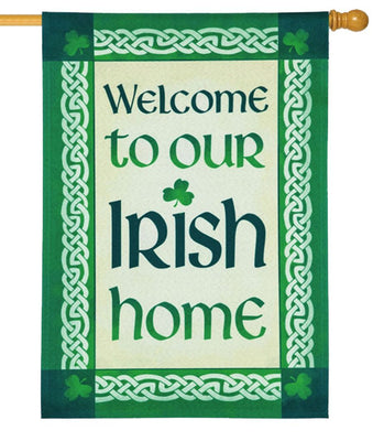 Linen Our Irish Home Decorative House Flag