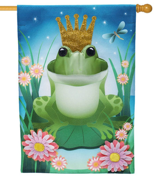 Linen Prince Froggy Decorative House Flag