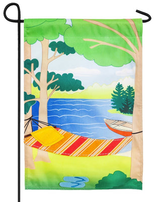 Linen Relax at the Lake Decorative Garden Flag