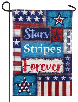 Linen Stars and Stripes Forever Decorative Garden Flag
