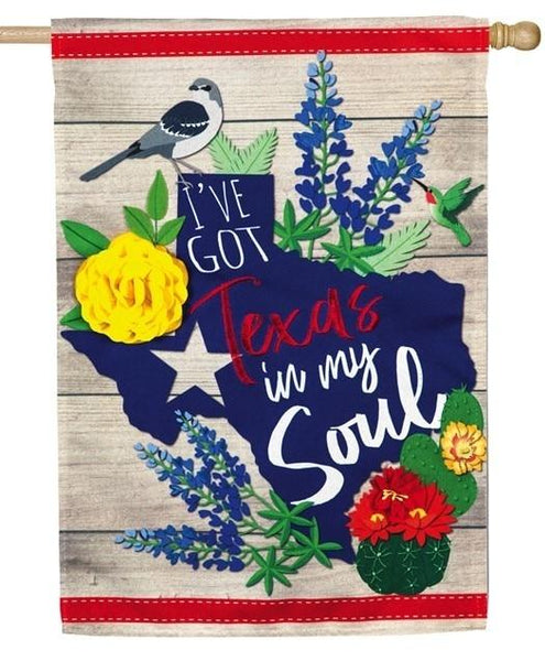 Linen Texas in my Soul Decorative House Flag