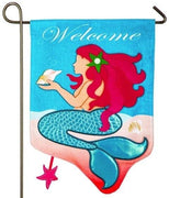 Linen Welcome Mermaid Decorative Garden Flag