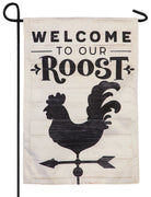 Linen Welcome to Our Roost Decorative Garden Flag