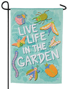 Live in the Garden Suede Reflections Garden Flag