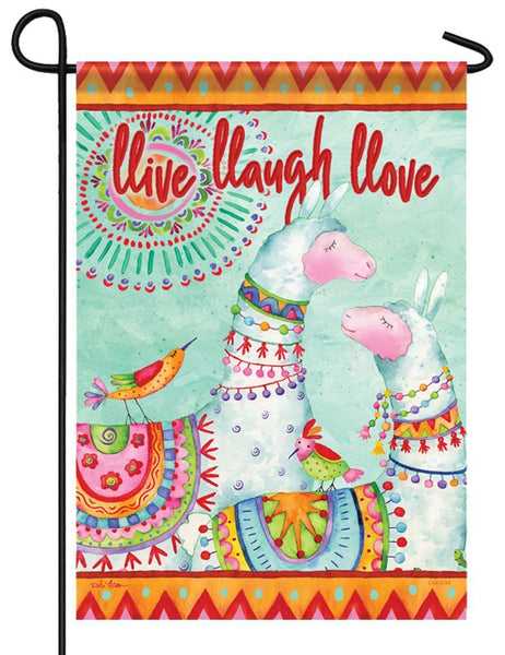 Llive Llaugh Llove Garden Flag - All Decorative Flags/Themes/Humorous Funny Flags - I AmEricas Flags