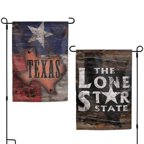 Lone Star State 2 Sided Garden Flag