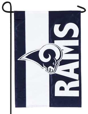 Los Angeles Rams Embellished Applique Garden Flag