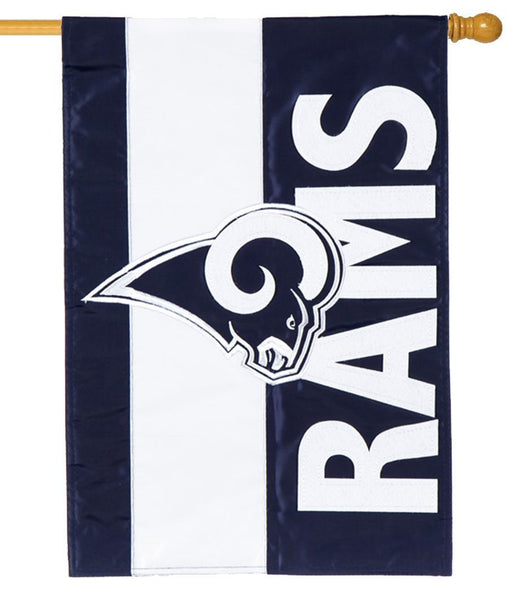 Los Angeles Rams Embellished Applique House Flag